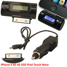 Car Wireless Radio FM Transmitter Modulator For iPhone Touch 4 4S 3GS iPod 3 4