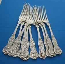 Ten (10) Dominick & Haff Sterling Dinner Forks King Pattern Circa 1880