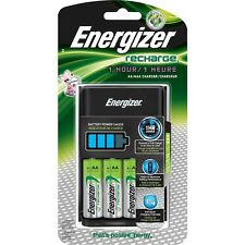 Energizer Eveready 1-Hour Recharge Battery Charger plus 4 AA Rechargeable Batt.