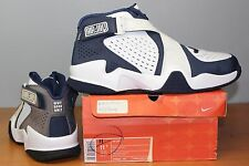 Nike Zoom Air Jaq Sz 11 / 11.5 Mismate White Navy Air Raid VTG VIntage