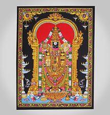 Lord Tirupati Balaji Tirumala Venkateswara Indian Wall Hanging Decor Tapestry