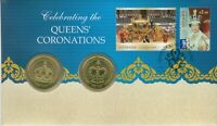 2013 $1 Queens Coronation 2 Coin & Stamp Cover PNC