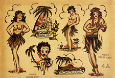 Sailor Jerry Tattoo Art Flash #7   13 x 19 Photo Print