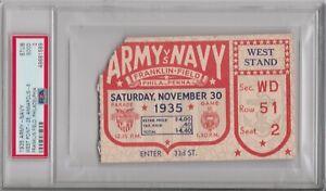 1935 Army Navy Football Ticket Stub PSA 2