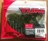 "☆BEST DEAL☆ MARDI GRAS 4"" Yum Walleye Grubs 12ct Twister Curly Tail Bass"