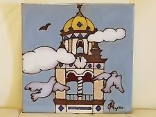 Payne Creations Hand Painted Tile Trivet KC MO Plaza Building
