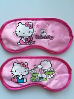 Girl Kid Children Lady Pink Hello Kitty Satin Rest Sleeping Face Eye Mask Favor