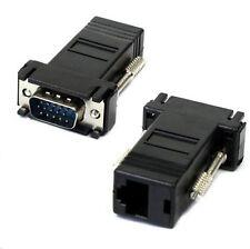 Economico ESTENSORE VGA max  20 metri tramite cavo CAT6  o CAT5 VGA Extender