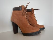 BCBG MAX AZRIA anckle boots brown suede high heels size 38,5