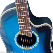 Guitares, basses et accessoires bleus 4/4