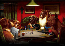 Dogs Playing D&D (1st edition D&D version) full color poster