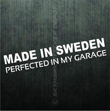 Made In Sweden Vinyl Bumper Sticker Decal Swedish Car Sticker For Saab & Volvo