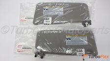 Toyota Camry 2007-2011 Driver & Passenger Sun Visor Kit With Vanity Lamp Gray