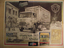 FRANCE ROUTES Poster  : SCANIA 143 H Graphite Garage : SCANIA 163 LB 76 VABIS