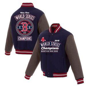 MLB Boston  Red Sox  World Series Champions Wool Reversible Jacket New