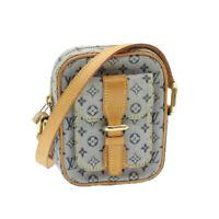LOUIS VUITTON Monogram Mini Juliet PM Shoulder Bag Blue M92005 LV Auth 15433