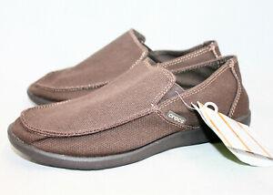 CROCS Santa Cruz Clean Cut Loafer 202972-22Z Men 8 Relaxed Fit Espresso Brown