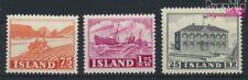 Islande 275-277 (complète edition) neuf 1952 Vues (9077363
