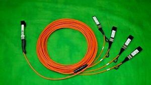 Finisar Quadwire 40G QSFP to 4x10G SFP Fan-Out Active Cable FCBN 510QE2C06 6M @3