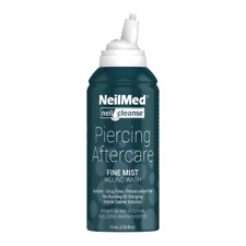 2 NeilMed Neilcleanse Sterile USP Grade Piercing Aftercare Body Piercing 75ml