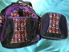EUC ~The Children's Place ~ Small Backpack And Matching Lunch Box ~ Clean!