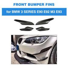 For BMW E90 E92 E93 M3 05-12 Carbon Fiber Front Bumper Fins Splitter Canard