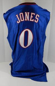 2001-02 Philadelphia 76ers Alvin Jones #0 Game Used Blue Jersey 9/11 NBA Patch
