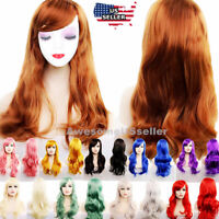 "Wigs 27"" Long Curly Fashion Cosplay Costume Party Hair Anime Wavy Wig Full Hair"