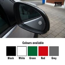 4 X VW LOGO WING SIDE MIRROR DECALS STICKERS GOLF Mk1 MK2 MK3 MK4 MK5 MK6