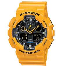 Watch Casio G-shock Ga-100a-9aer Silicone Yellow Black Sub 200mt
