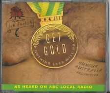 JON ENGLISH GET GOLD NOTHING LESS WILL DO RARE CD ABC HUMOUR AUSTRALIA 2004