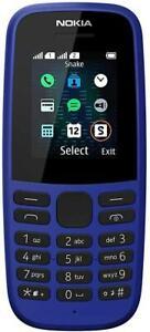 NOKIA 105 DUAL SIM TELEFONO CELLULARE GSM TASTI GRANDI PER ANZIANI BLUE NUOVO