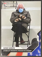 2020 USA Election Topps NOW #21 Bernie Sanders Inauguration *IN HAND* MITTENS