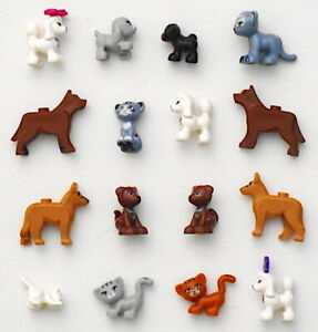 LEGO Dog Cat 16 Piece Cute Animal Authentic Lot Friends Kitty Puppy