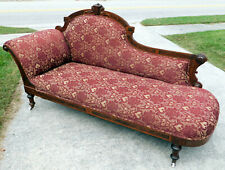 Walnut Victorian Eastlake Lounge~Daybed~Sofa circa 1875