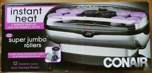 Conair Instant Heat Jumbo/Super Jumbo Ceramic/Flocked Roller Set