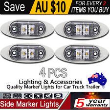 4X 2 LED Side Marker Lights Red Amber Trailer Truck Clearance Lamp 9 - 33V