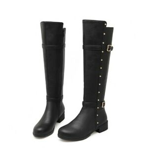 Women's Fashion Comfortable Casual Shoes New Knee High Boots Square Heel Boots