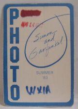 PAUL SIMON AND ART GARFUNKEL  VINTAGE ORIGINAL CONCERT TOUR CLOTH BACKSTAGE PASS