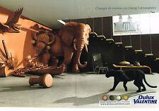 PUBLICITE ADVERTISING 114  2009  DULUX VALENTINE   peintures (2p)