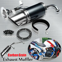 Performance Exhaust Muffler Pipe System Carbon Fiber For GY6 125 150cc Scooter