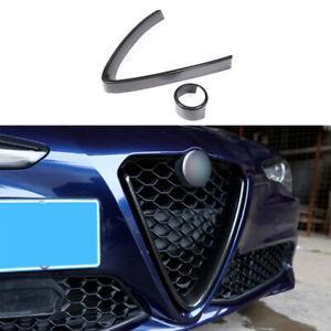 For Alfa Romeo Giulia 2017-21 Carbon Fiber Front Bumper Center Hood Grill Frame