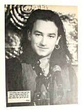 U2 / Bono / Bryan Adams Live / Magazine Full Page Pinup Poster Clipping (1)