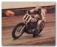 #11y DON CASTRO ON TRIUMPH 750 MOTORCYCLE TRADING CARD DIRT FLAT TRACK FLATTRACK