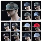Men's Baseball Cap Trucker Hat Plain Blank Snapback Mesh Camo Caps Hip Hop Army