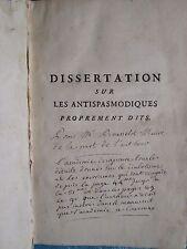 DISSERTATION SUR LES USAGES DES ANTISPASMODIQUES, 1765. Diabolisme ex auteur