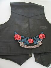 "Patch écusson"" bandeau roses happy"" biker, harley, moto,lady,country,28 X 14 cm"