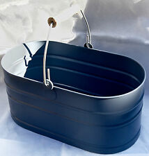 UTILITY BUCKET. IN DORSET BLUE.POWDERED STEEL. GARDEN TRADING