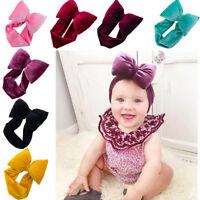 Baby Girls Kid Toddler Big Bow Hairband Headband Knot Stretch Turban Accessories