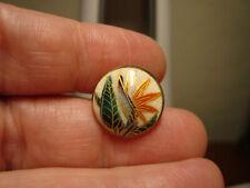 Antique BEAUTIFUL flower design SATSUMA Porcelain button